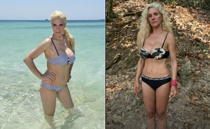Loli Álvarez antes y después de su paso por 'Supervivientes'