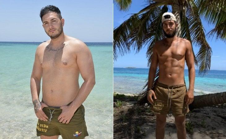 Omar Montes antes y después de su paso por 'Supervivientes'