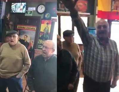 El vídeo de unos hombres celebrando el franquismo en un bar que ha incendiado las redes