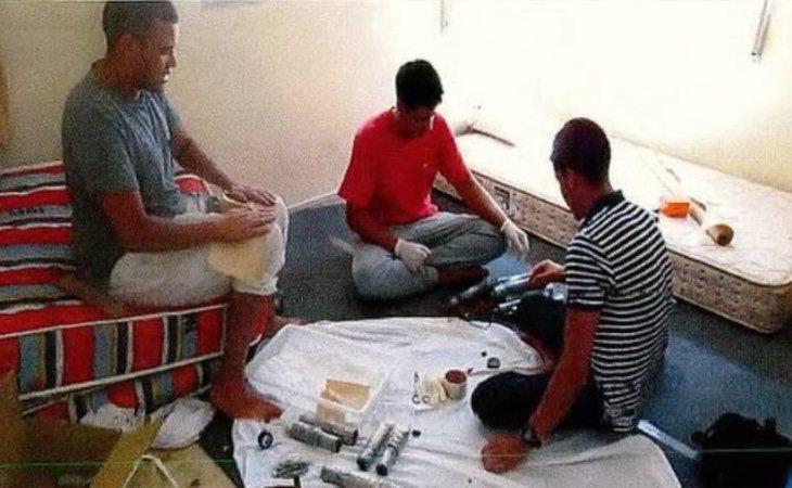Los discípulos de Es Satty, durante la preparación de los atentados