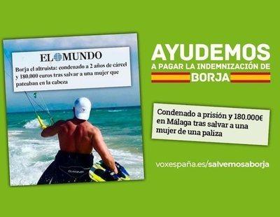 Borja, el joven condenado por matar un ladrón, rechaza los 180.000 euros que le ofrece VOX