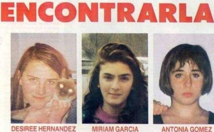 Desireé, Miriam y Toñi son las víctimas del caso Alcásser