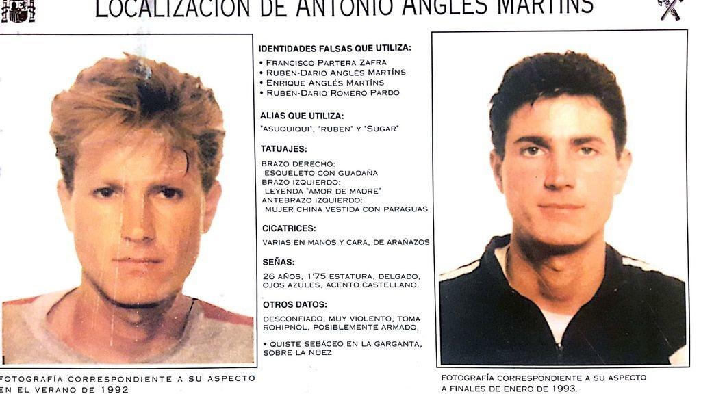 Antonio Anglés es uno de los asesinos más buscados de España