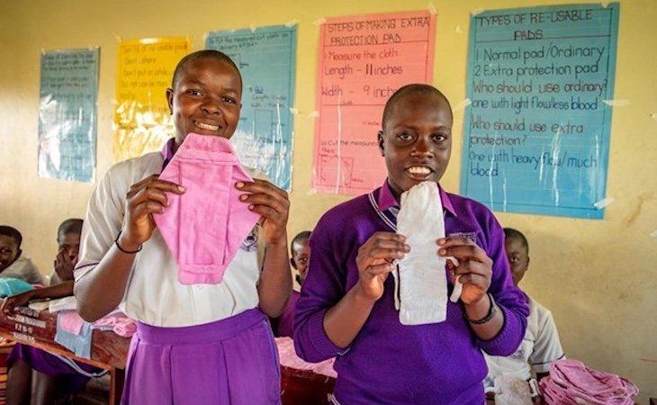 La copa menstrual está considerada la mejor opción de higiene menstrual en África