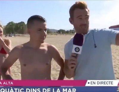 La bronca de un reportero valenciano al madrileño que se quejó de sus playas en directo