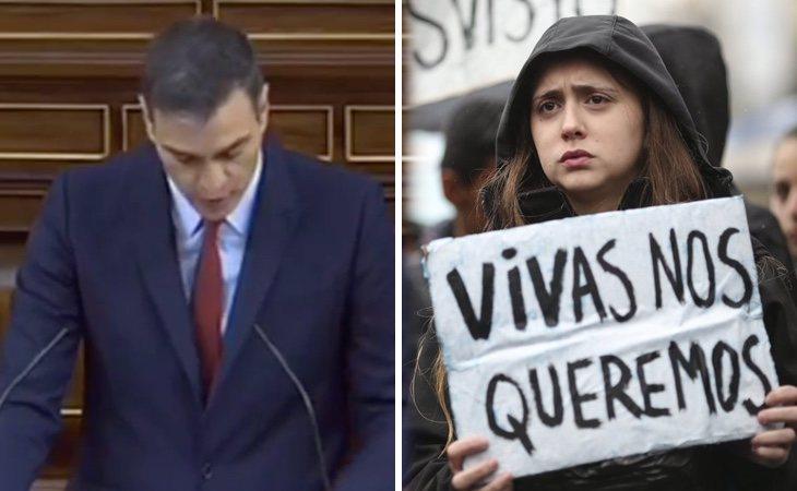 Pedro Sánchez anuncia: 'Modificaremos la tipificación de los delitos sexuales, no queremos manadas ni lobos solitarios'. También habrá ley para ...