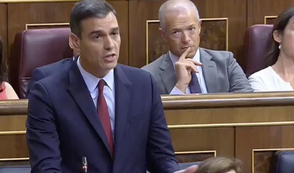 Sánchez: 'La moción de censura no estuvo motivada por Cataluña, estaba motivada por una sentencia vergonzante por corrupción'