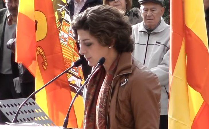 Sandra Gutierrez, junto a su madre Pilar, son creadoras de la plataforma 'Movimiento por España'