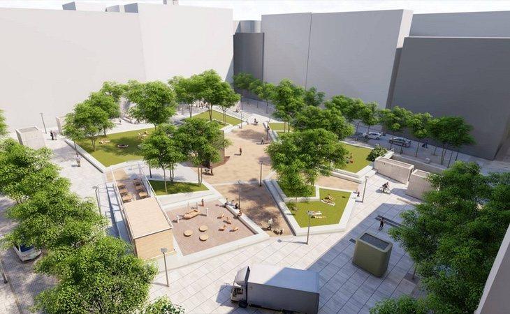 Propuesta de reforma de la plaza de Pedro Zerolo propuesta por Manuela Carmena