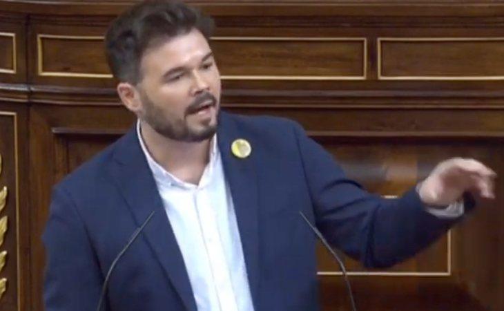 Rufián: 'No es un juicio al independentismo, es un juicio a los derechos civiles de todos'