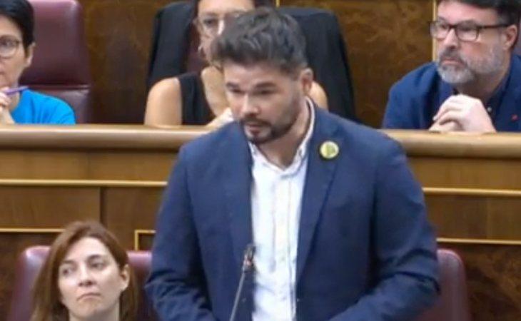 Gabriel Rufián (ERC) advierte: 'Señor Sánchez, no dé por hecho nuestra abstención'