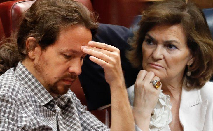 Carmen Calvo, sorprendida con la postura de Iglesias que 'dificulta las negociaciones'