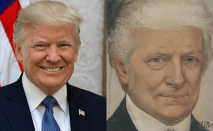 Donald Trump, pasando por la app Al Portrait Ars