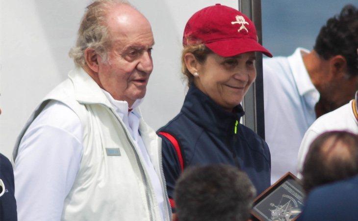 La Infanta Elena y su padre acudieron juntos a las regatas de Sanxenxo