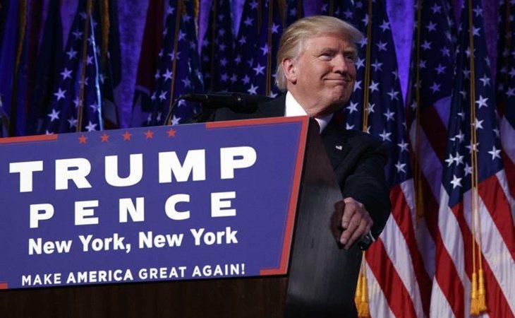 Donald Trump durante la campaña electoral de 2016