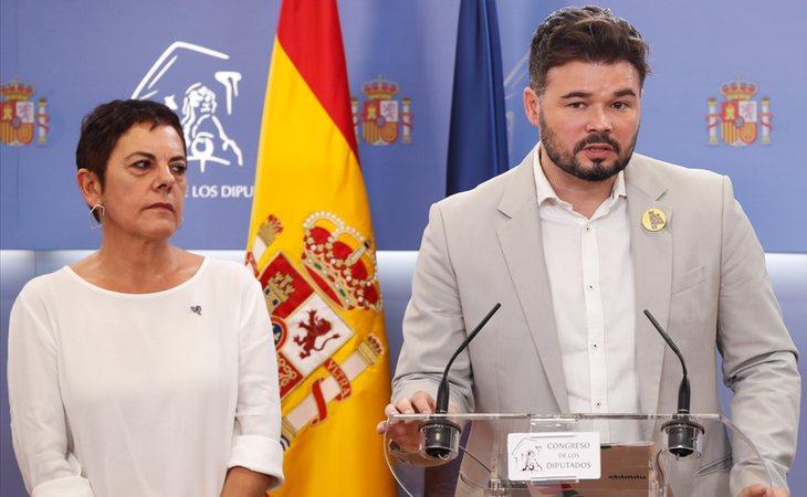 ERC y EH Bildu se abstendrá en la segunda votación para investir a Pedro Sánchez