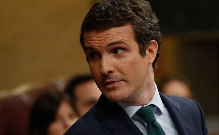 Pablo Casado vota NO a la investidura de Pedro Sánchez