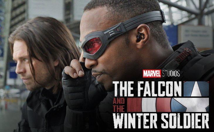 Sebastian Stan y Anthony Mackie como Bucky Barnes y Falcon