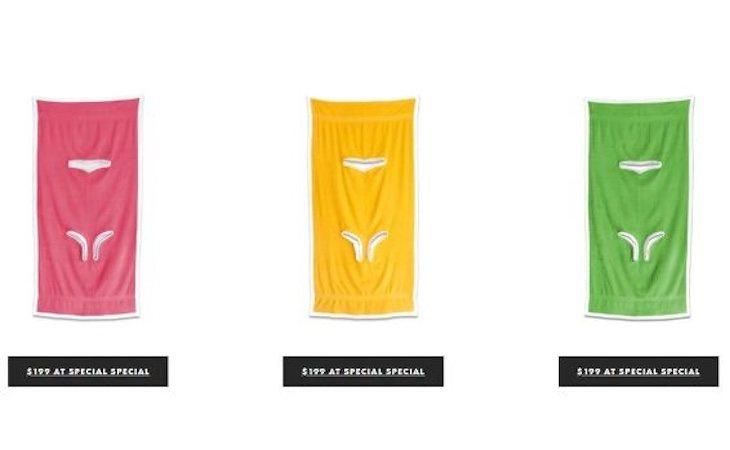 El towelkini está disponible en la página web de la diseñadora