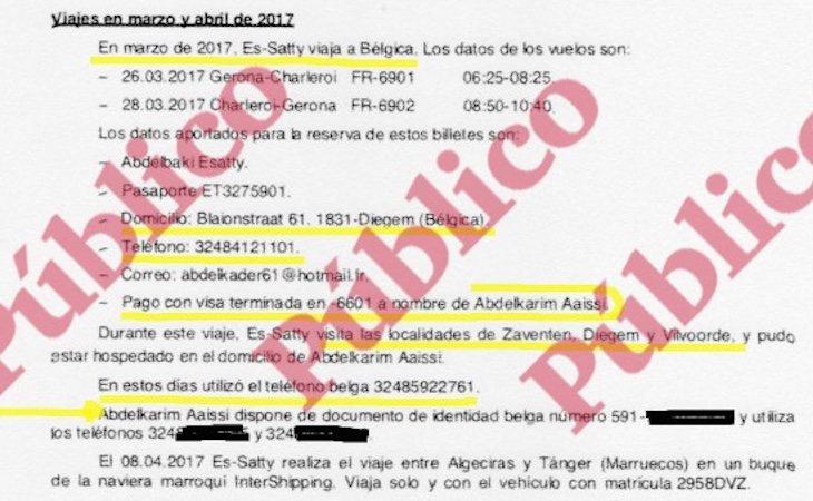 Fragmento del informe reservado del CNI sobre los viajes del imán de Ripoll- Público