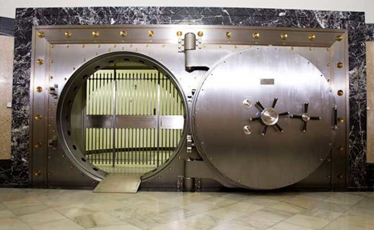 Puerta real de la cámara acorazada del Banco de España