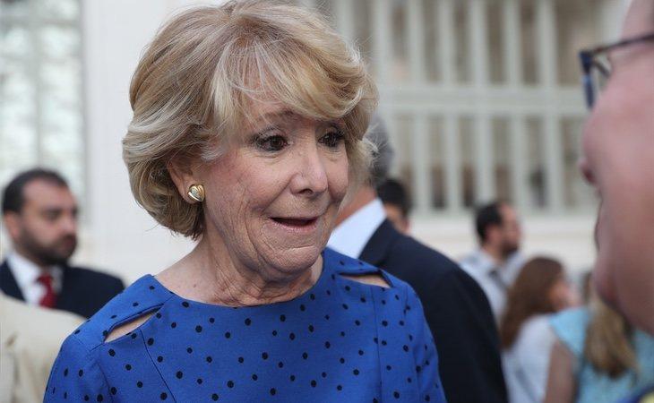 Esperanza Aguirre está siendo investigada 'de facto' en la pieza relacionada con la financiación de las campañas electorales