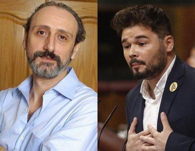 """El disgusto de Rufián al conocer que Juan Cuesta le ha bloqueado: """"Para un presidente que me gusta"""""""
