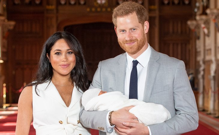 Los duques de Sussex en la presentación de su hijo Archie