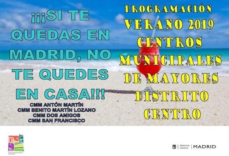 Cartel de la Junta de Distrito de Villaverde en 2019