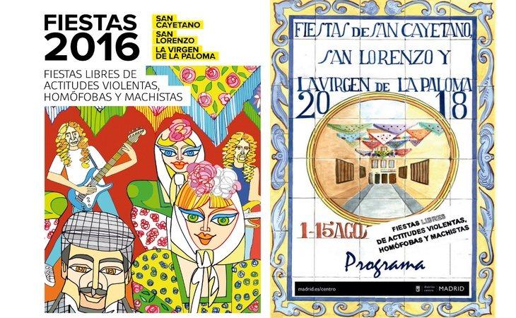 Carteles de las ediciones de 2016 y 2018