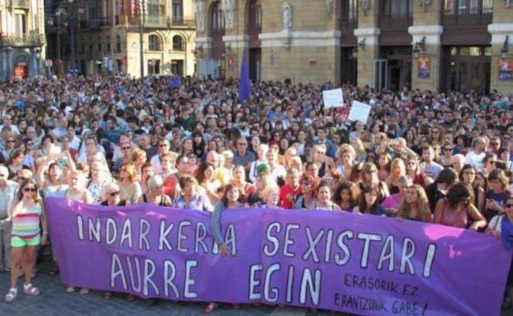 Las asociaciones feministas de Bilbao han organizado concentraciones de repulsa
