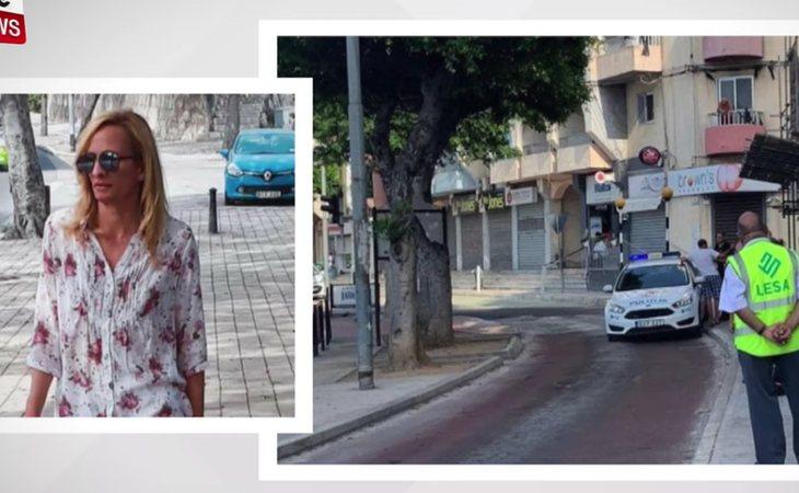 Imagen de la víctima y la parada de autobús en Msida, donde ocurrieron los hechos
