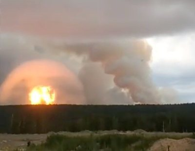 Una explosión nuclear en una base militar rusa deja dos muertos