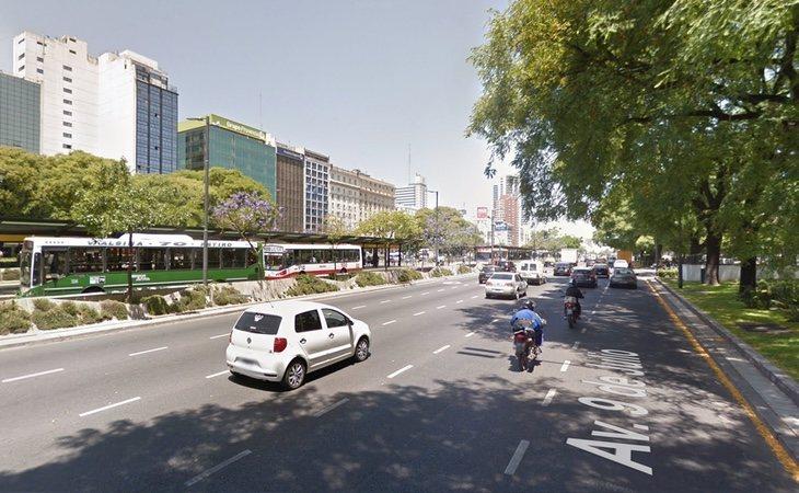 Los hechos sucedieron en la Avenida 9 de julio de Buenos Aires