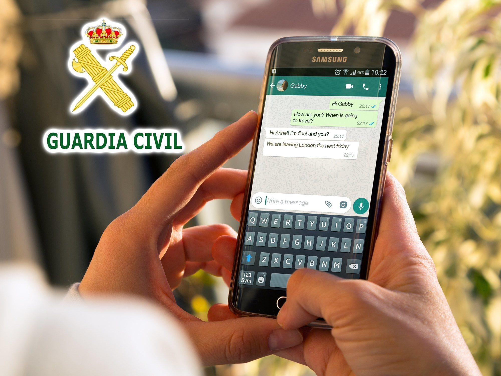La Guardia Civil advierte sobre el riesgo del reto de WhatsApp del 'vecino de número'