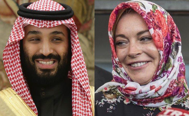 Mohamed bin Salman y lindsay Lohan, ¿más que amigos?