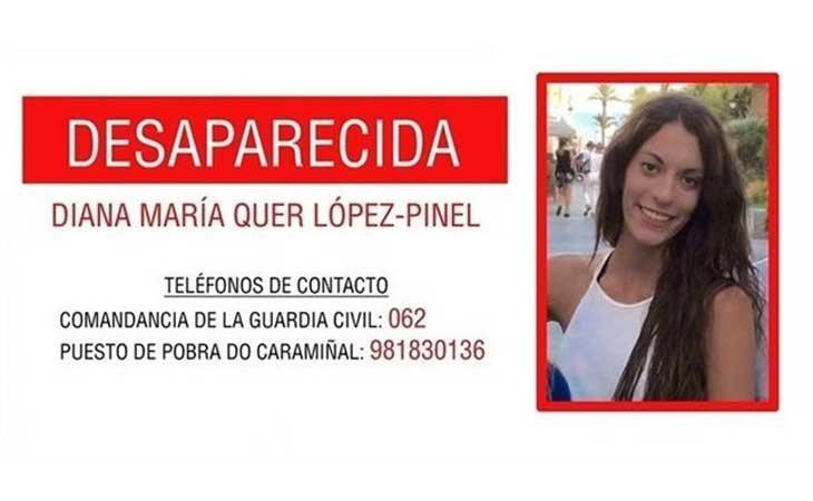 Cartel de la desaparición de Diana María Quer