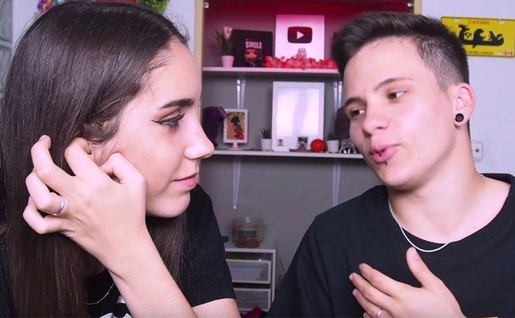 Raquel estuvo al lado de Hugo durante todo el proceso de cambio físico y ambos lo cuentan en sus vídeos