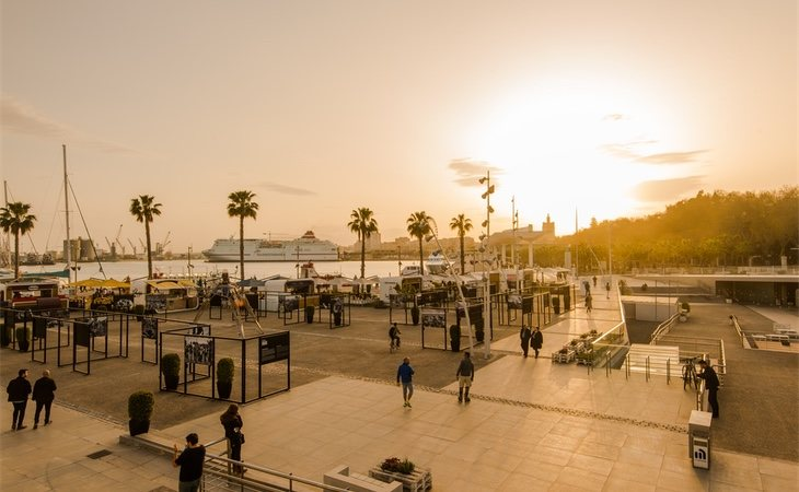 El periodista acudió al paseo marítimo de La Malagueta por casualidad, después de que un amigo le cancelara una cena