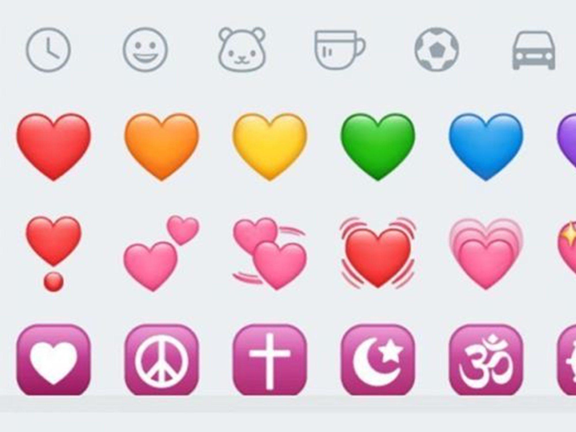 El significado desconocido de los corazones de WhatsApp según su color