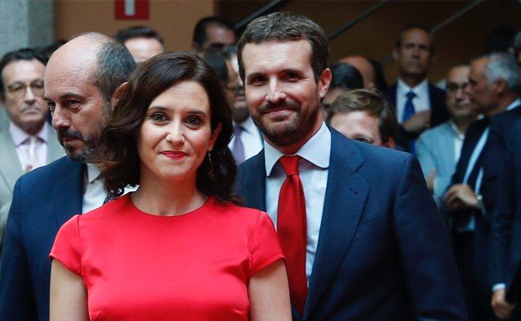 Pablo Casado acaparó todas las miradas durante la investidura de Díaz Ayuso con su cambio de imagen