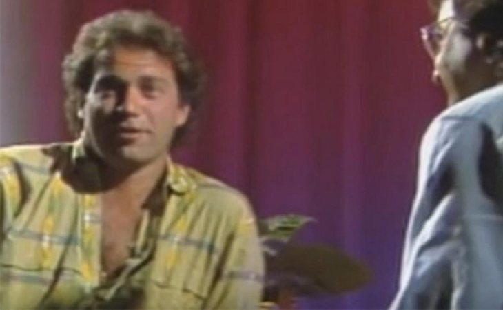Bertín Osborne en la entrevista de 'De la mano de...' en TVE en 1985