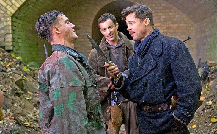 Sönke Möhring y Brad Pitt en 'Malditos bastardos'