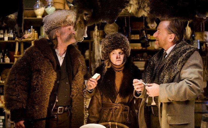 Kurt Russell, Jennifer Jason Leigh y Tim Roth en 'Los odiosos ocho'