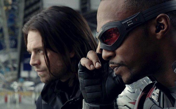 Anthony Mackie y Sebastian Stan en 'Capitán América: Civil War'