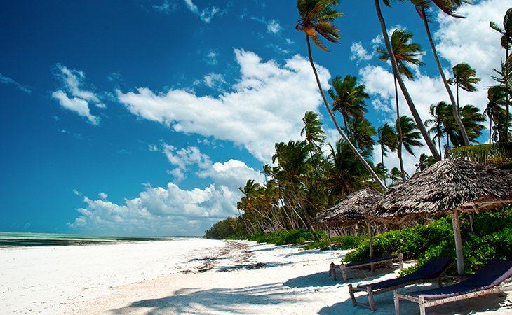 Matemwe Beach está situada al nordeste de Zanzíbar