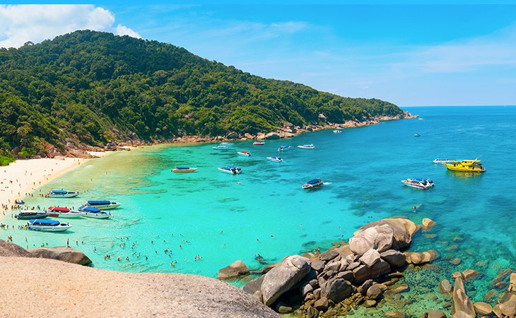 Las nueve islas de Similan son perfectas para el submarinismo