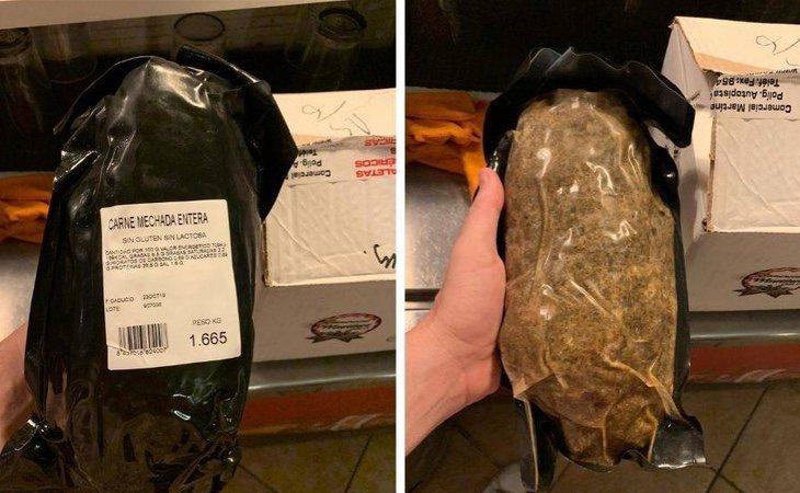 Este es el lote de carne mechada de marca blanca, de Comercial Martínez León, que las autoridades recomiendan evitar