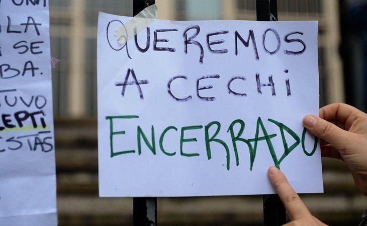 Los manifestantes piden revisar la condena