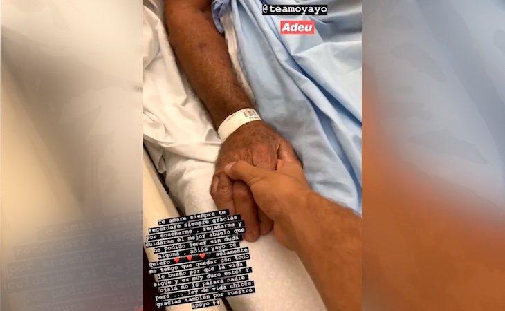 El influencer compartió imágenes de su abuelo en el hospital